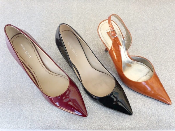 Patent pumps and a slingback