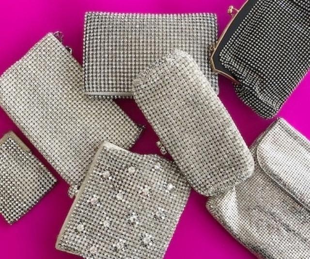 Vintage diamante clutch bags