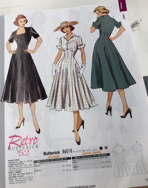 Butterick Retro 1950's dress patterns.