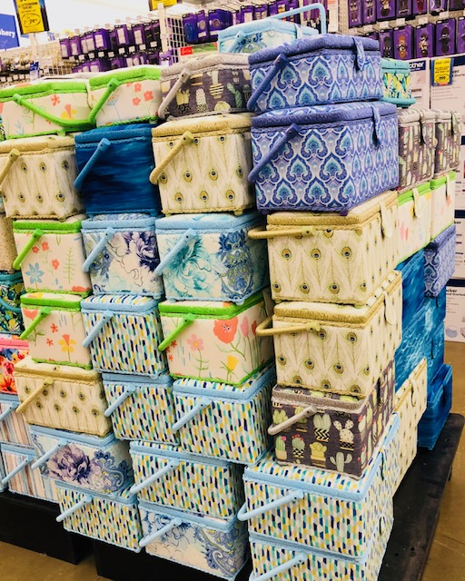 A mountain of sewing baskets just longing for a home!