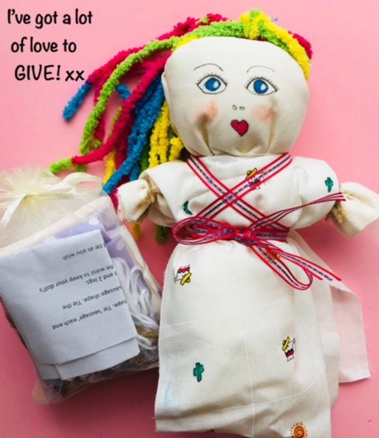One completed doll and doll kit. How fabulous!