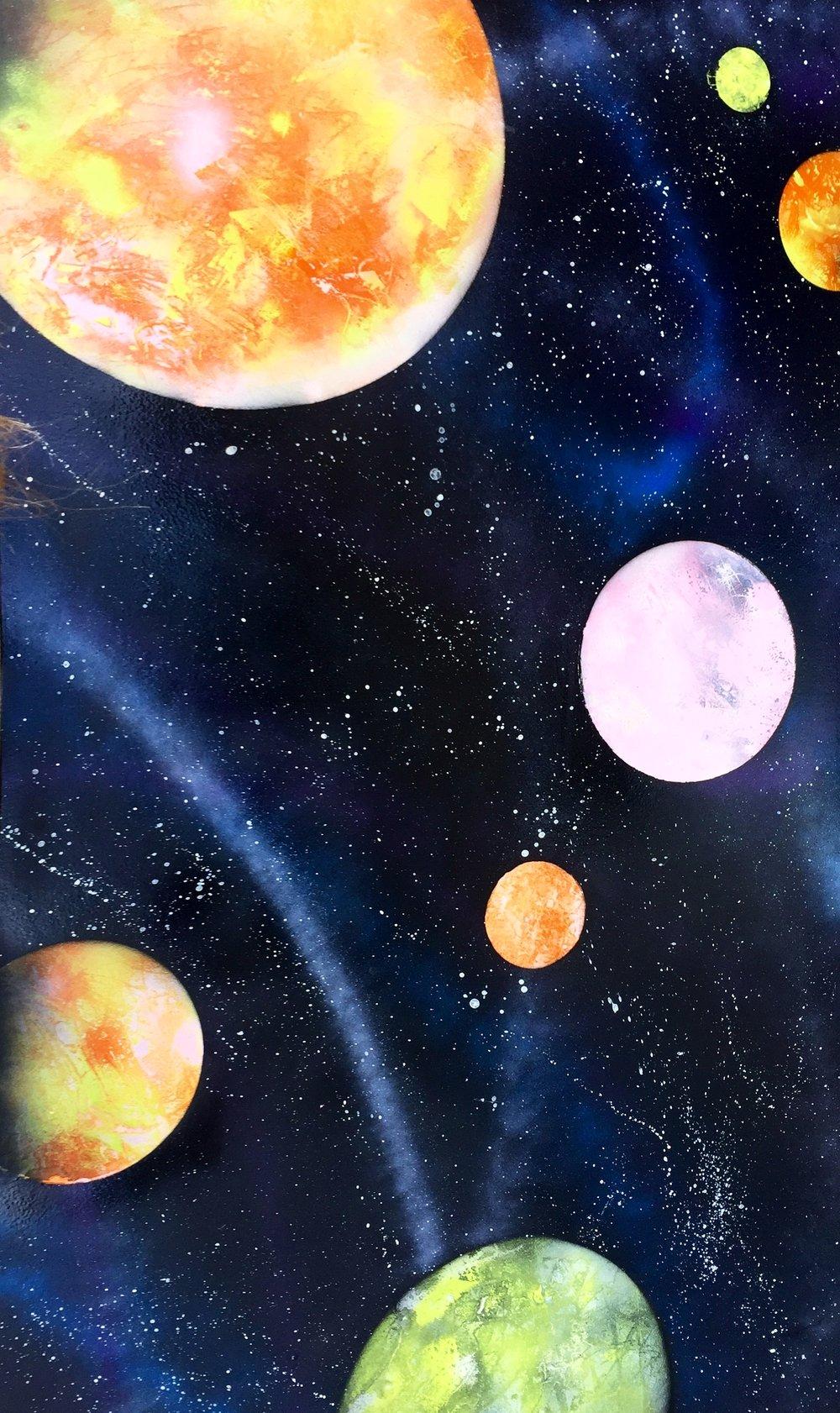 random galaxy painting art by madison