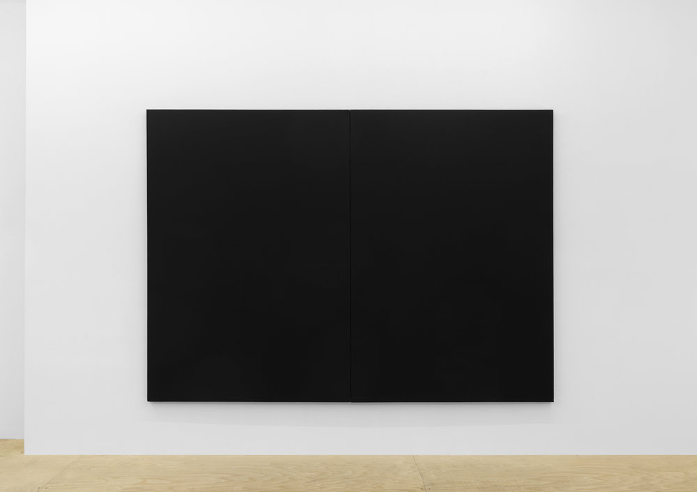 Joshua Evan,  Shielding Monochrome #2 , EMF shielding paint on canvas, 2017, courtesy ASHES/ASHES
