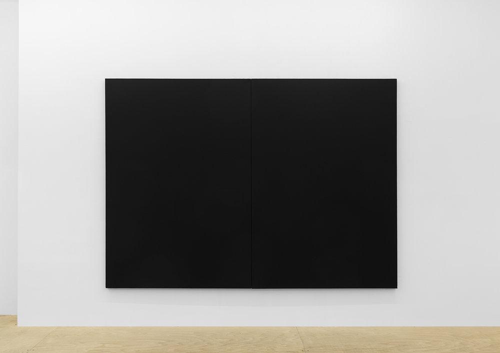 Joshua Evan,  Shielding Monochrome #2 , EMF shielding paint on canvas, 2017, courtesy ASHES/ASHES