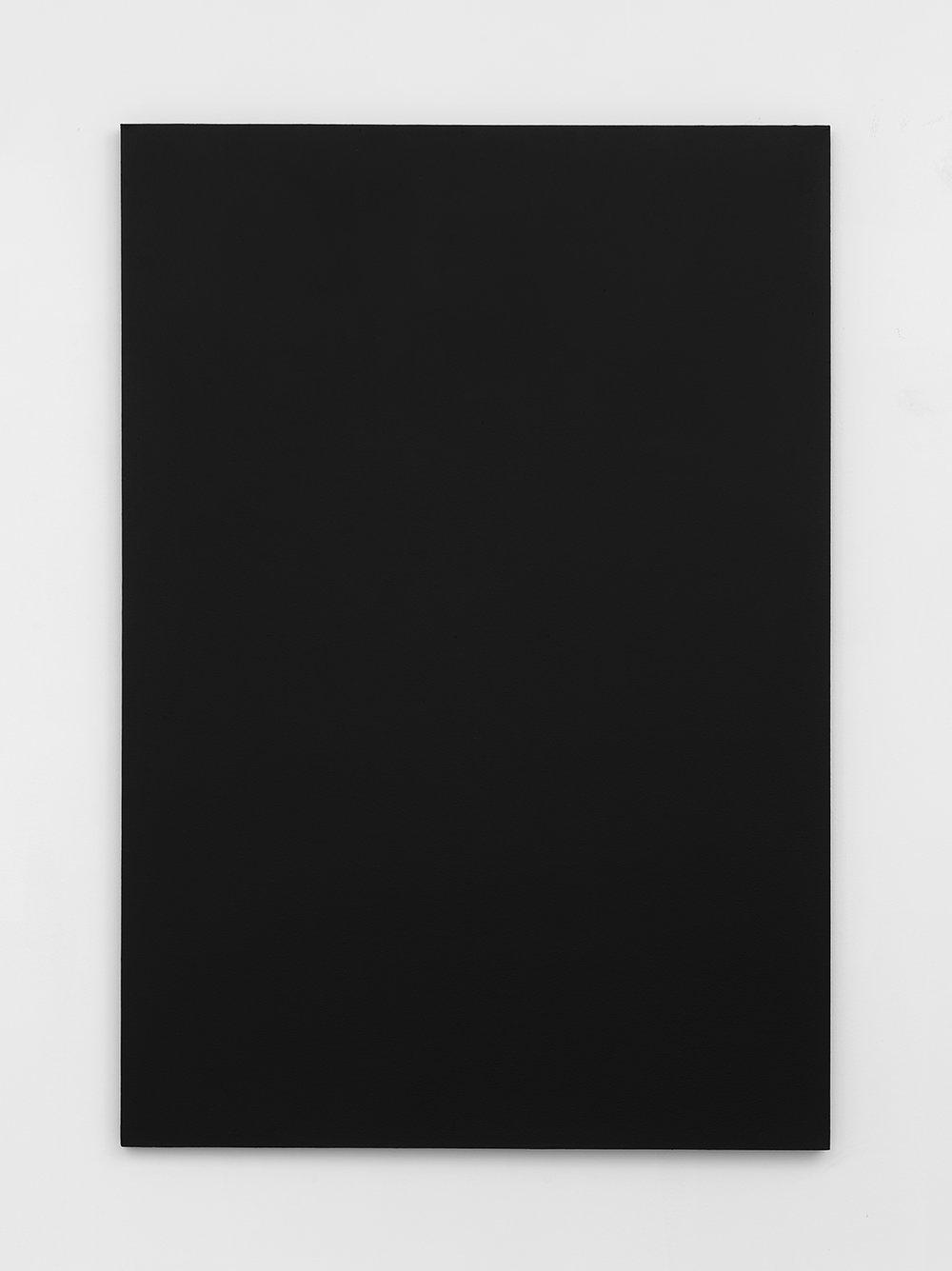 Joshua Evan,  Shielding Monochrome #1 , EMF shielding paint on canvas, 2017, courtesy ASHES/ASHES