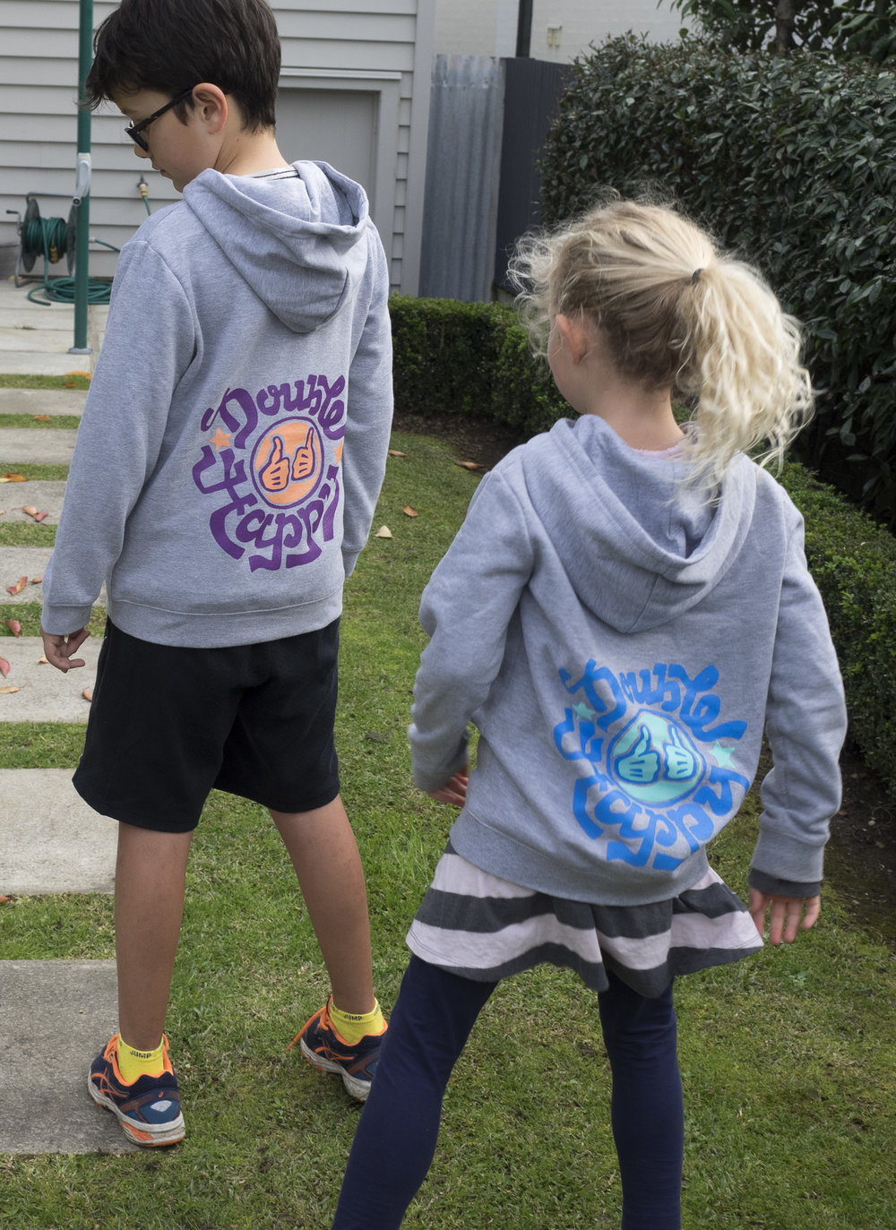 Copy of Double Happy Kids Hoodie Hero