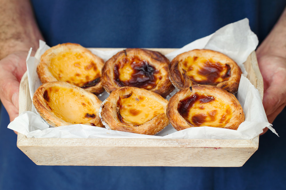 We had Pasteis de Nata, an egg-based pastry in a traditional restaurant called Pasteis de Belém. Words cannot describe the amazing flavor - both crunchy and creamy, sweet, yet not too sweet, and with a dab of cinnamon.
