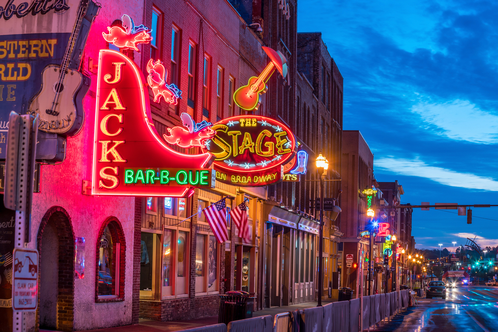 6. Nashville,  USA -  Fireworks, hats, confetti, bar hopping and live country music at it's best