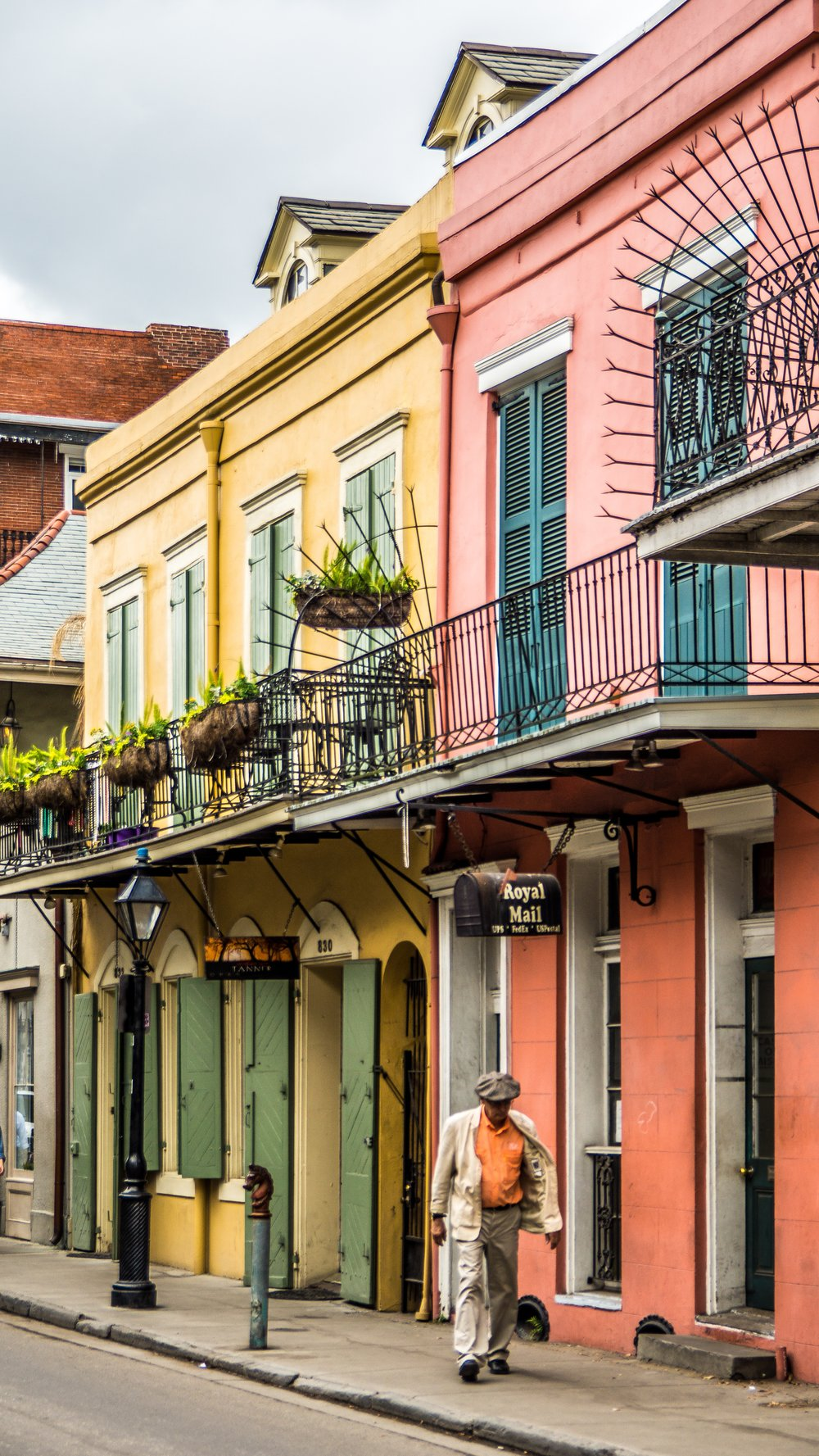 Colorful houses in New Orleans, Louisiana