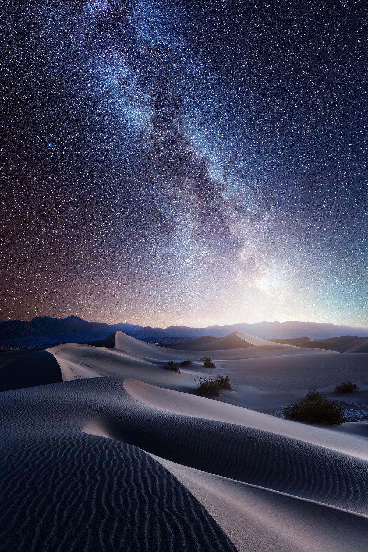 death valley mequite sand dunes milky way stars galaxy astrophotography composite dream long exposure night desert 2-3.jpg