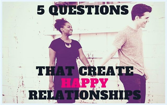 How happy are you in your relationship? Most of us just go through our day, week, month and life, without really nurturing or investing in our relationships. Consequently, they're kind of satisfying...and sometimes they're not at all. But they could be!  Do you ask your wife/husband/bf/gf/finance/special someone these questions? They'll create more satisfaction and happiness in your relationship. Create The Love You Want! ♥️ Link in bio.