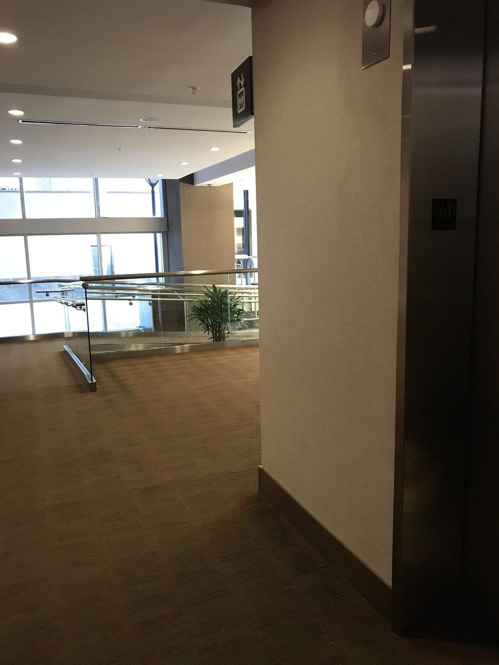 Entry Ramp From Front Door To Elevator