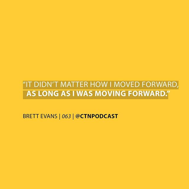 When was the last time you questioned moving forward? I'll start...  A couple weeks ago when on vacation, the thought of not continuing the @CTNPodcast crept into my brain. More times than once actually, which was weird. More weird was 5 minutes earlier I'd said that I was excited to see what the @CTNPodcast would be 8-10 years from now.   Sometimes you love what you do and in the same moment, wish you didn't have to it because you realize all the challenges and annoying shit you'll have to face in order to accomplish that big hairy ass dream you have. I feel like this is normal though... -@terrencejtaylor  Now your turn... Comment below! . . . . . . #MoveForward #TheDoobTool #BrettEvans #HFX #Halifax #Podcast #CTN #ChangingtheNarrative #Episode63 #Cannabis #Doobs #Tools #LISTENNOW