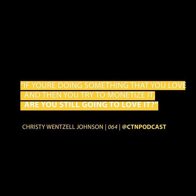 What do you think? ⤵️ Comment below! . . . . . . #MonetizingTheThingsYouLove #HFX #Halifax #Podcast #CTN #ChangingtheNarrative #Episode64 #ChristyWentzellJohnson #TheShapeofYourLife #LISTENNOW
