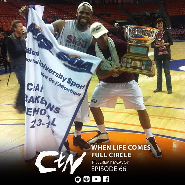 This week we welcome a long time friend and former @smuhuskies teammate @mrMcAvoy to share his stories about growth and evolution beyond his basketball career. Jeremy talks about his transition from basketball to firefighting, what it's like filming the AUS tournament after playing in it, founding a company with @AlfredBurgesson and walking away from that company, the power of dogs, procrastination, where is his favourite travel destination is, the similarities and difference in shooting photography and film and the most shoutouts in @ctnpodcast history!  #JeremyMcAvoy #Firefighter #AUS #LifeAfterBasketball #halifax #podcast #CTN #ChangingtheNarrative #SMU #basketball
