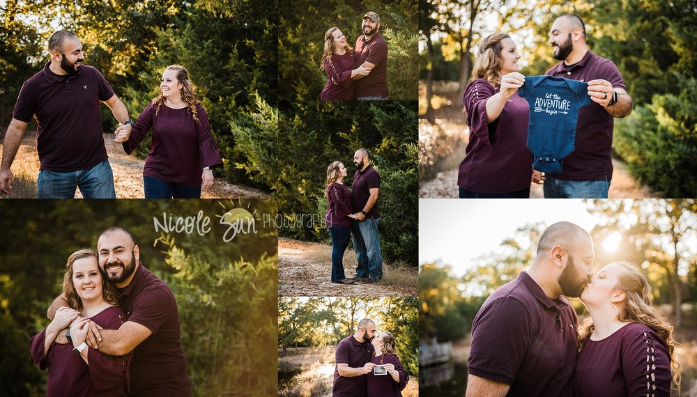 Pregnancy Announcement Session - Aubrey, TX