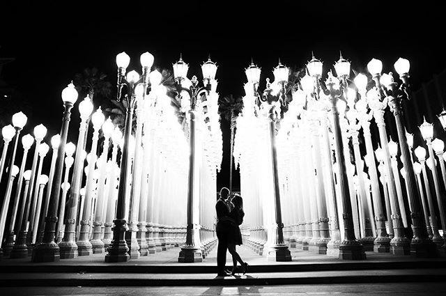 A little film noir at the @lacma  #losangeleswedding #losangelesphotographer #losangelesweddingphotographer #weddinginspo #engagementphotos #lacma #lacmalights #lacmaengagement #blackandwhite #sarkisstudios #engaged #engagementphotos