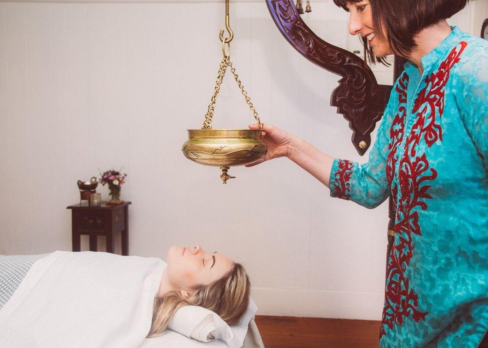 The regal Shirodhara Treatment