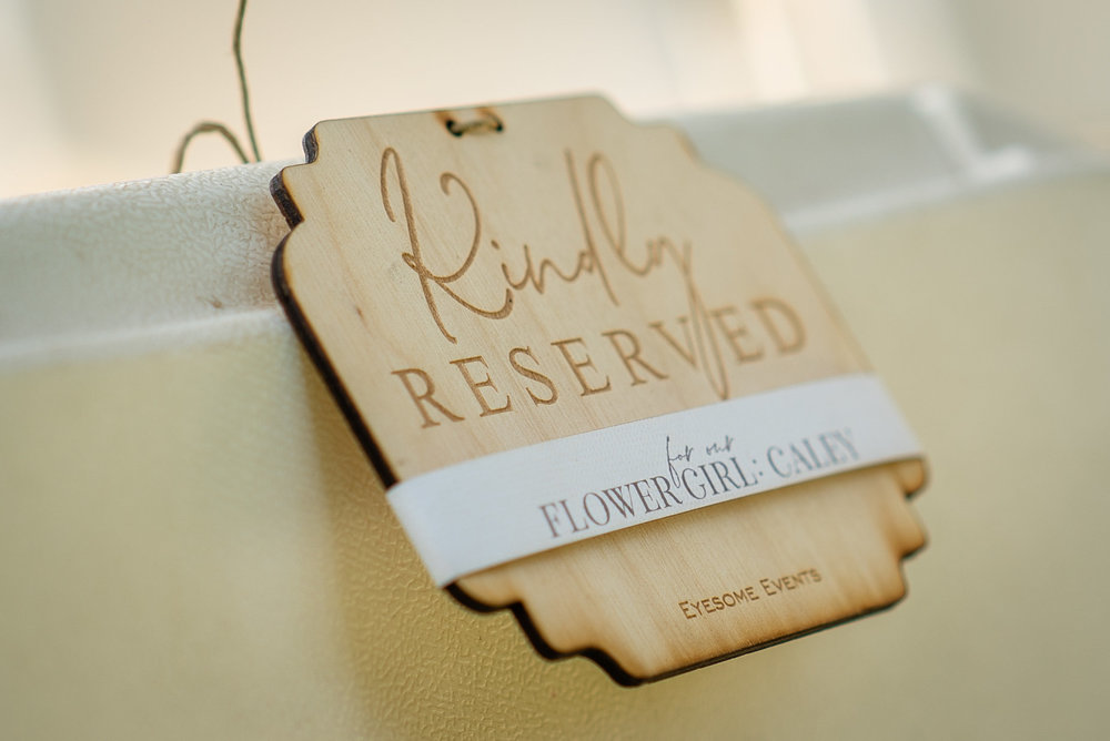 Copy of Kindly reserved wedding signs