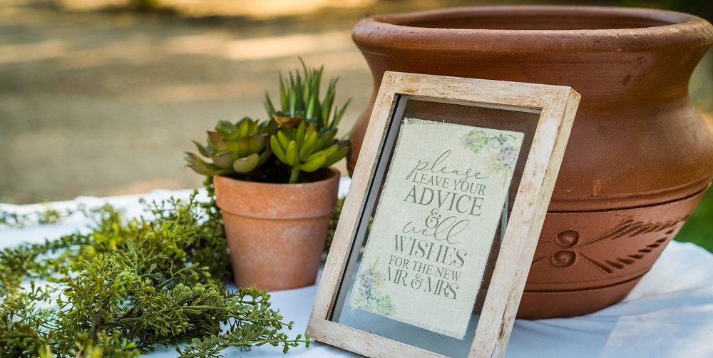 wedding advice sign in