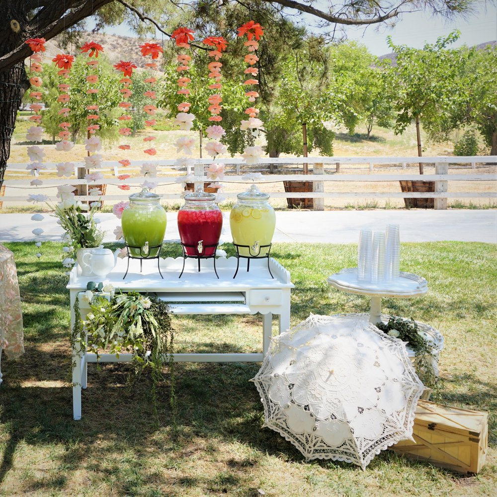 Styling & Set-up:  Eyesome Events  | Water Dispenser:  Ten Four Decor
