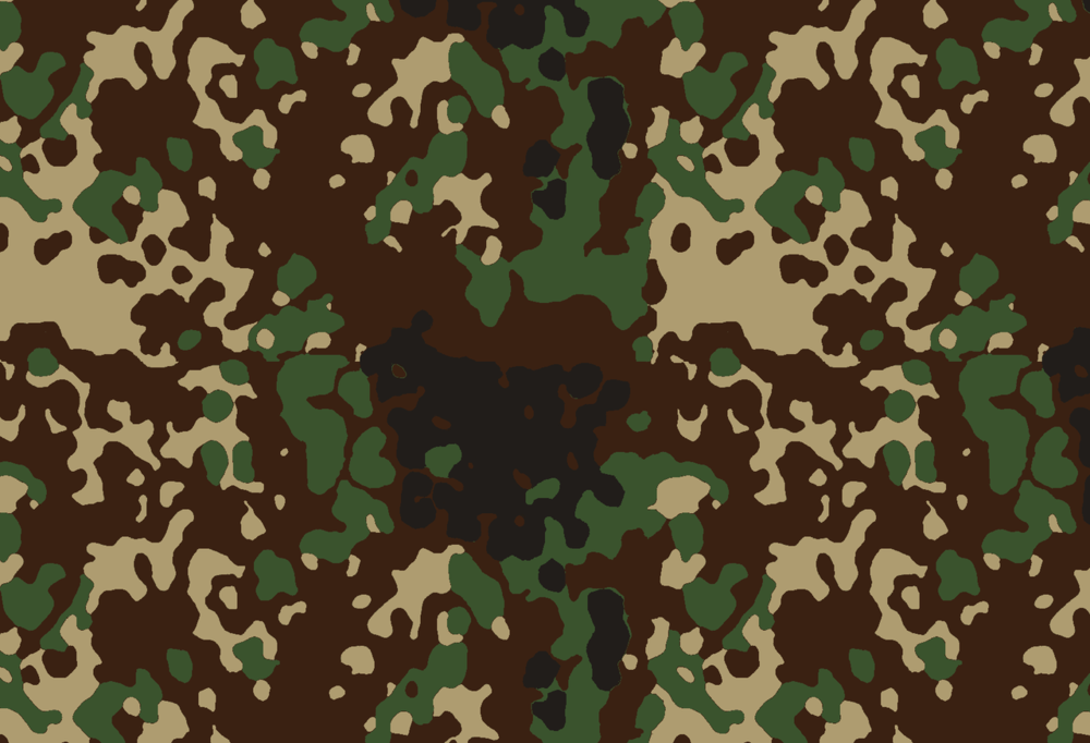 Camouflage Type 2 Autumn variation:   Brown dominate variation of the Type 2 Camouflage pattern used for winter. It can be seen with the cold weather field parka and trousers.