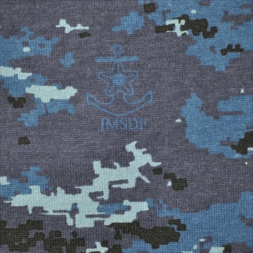 JMSDF Camouflage:   Maritime Self Defense Force pixelated digital camouflage pattern introduced in 2012, Inspired by the US Navy's Naval Working Uniform.