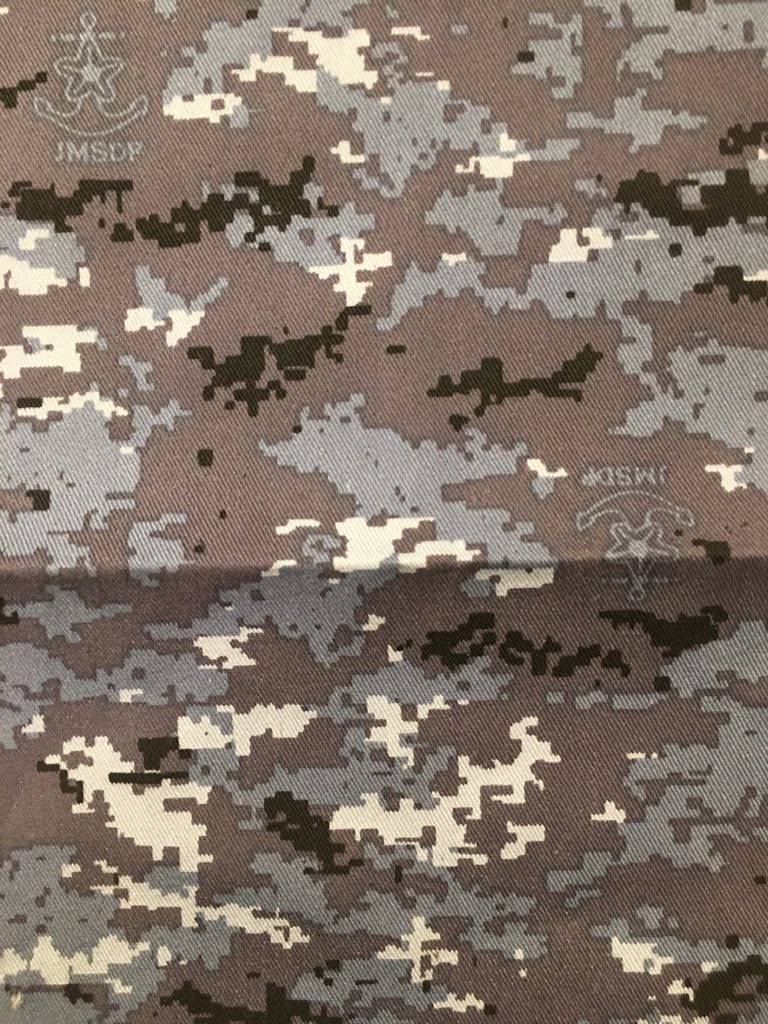 JMSDF Desert Camouflage:   Maritime Self Defense Force pixelated digital camouflage pattern introduced in 2012. This is the desert variation.