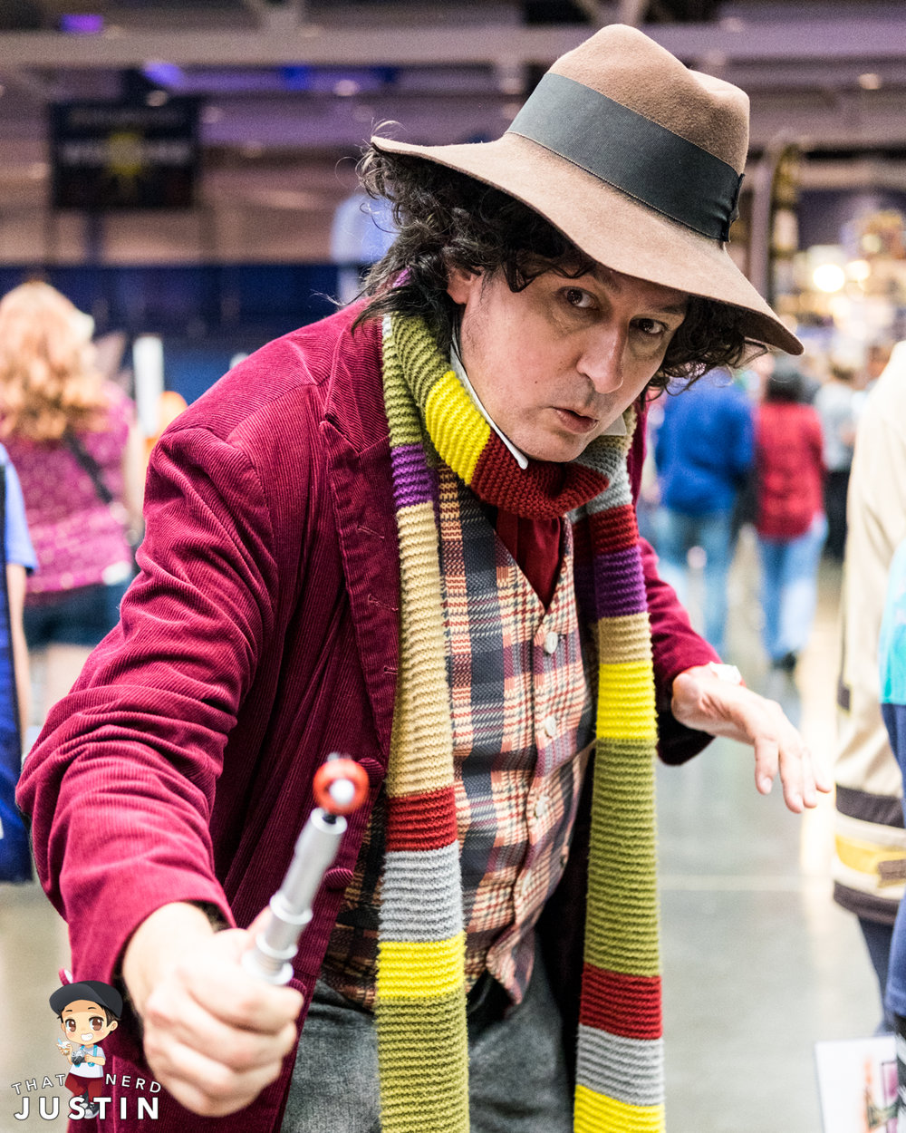 Larry as the Fourth Doctor