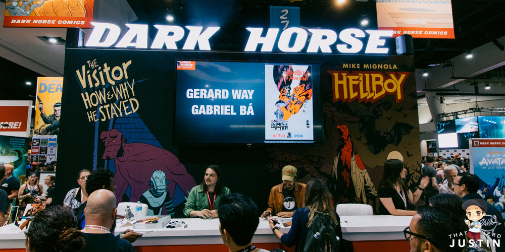 The Umbrella Academy signing at Dark Horse Comics.