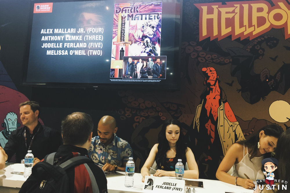 SyFy's Dark Matter signing at Dark Horse Comics