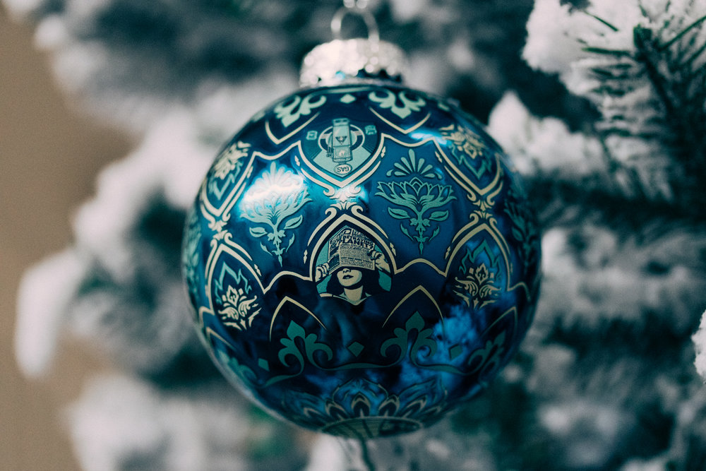 a ball of propaganda (obey giant // earth crisis ornament)