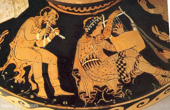 There are many ancient depictions of musicians playing with and for each other.