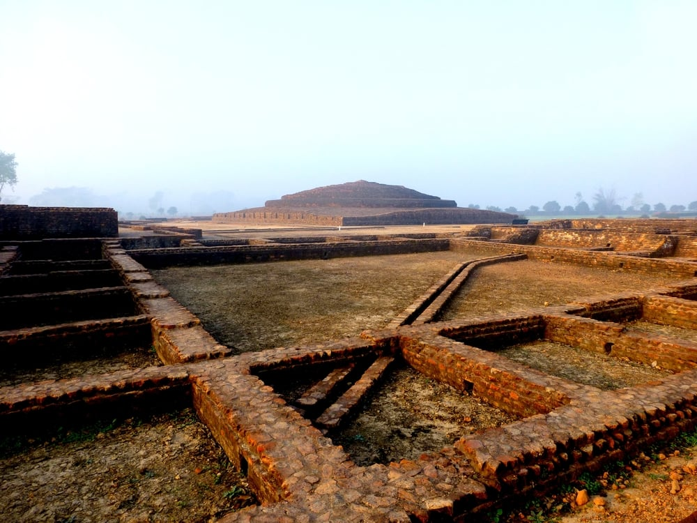 Ruins of the Piprahwa Stupa, Birdpur Estate, North India