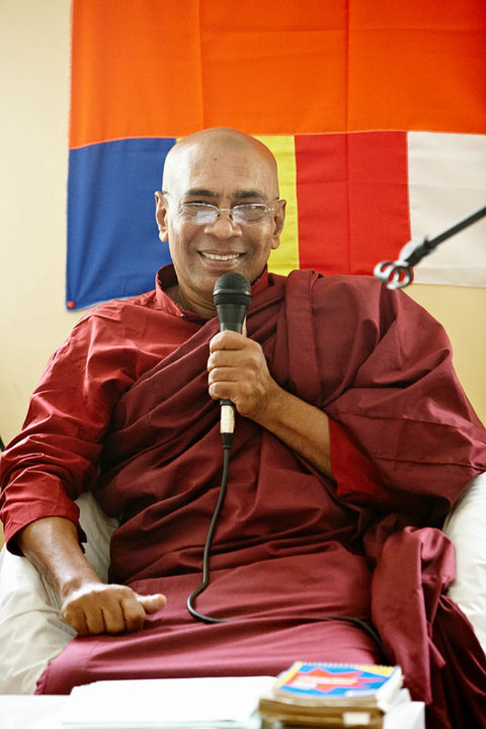 DHAMMA TALKS    Venerable Waskaduwe Mahindawansa Maha Nayaka Thero, the abbot of Sri Subuthi Maha Viharaya in Sri Lanka