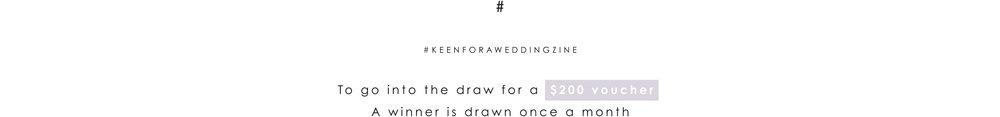 #keenforaweddingzine