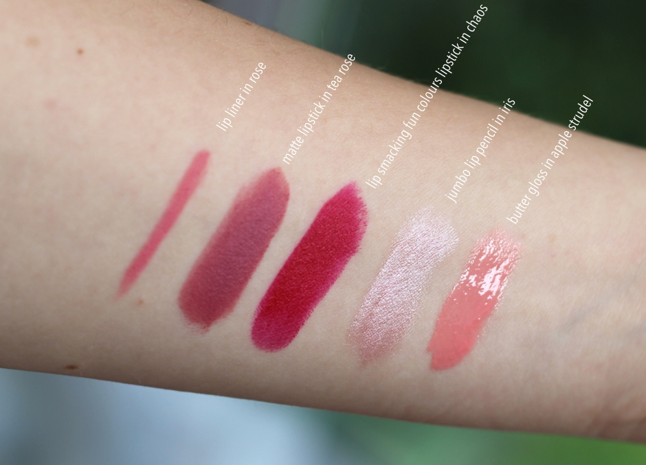 NYX lip products