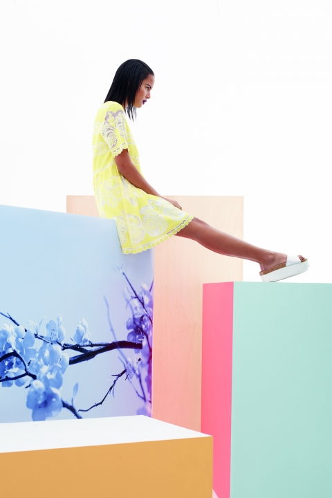 Penney's Yellow Lace Shift Dress Spring Summer 2015
