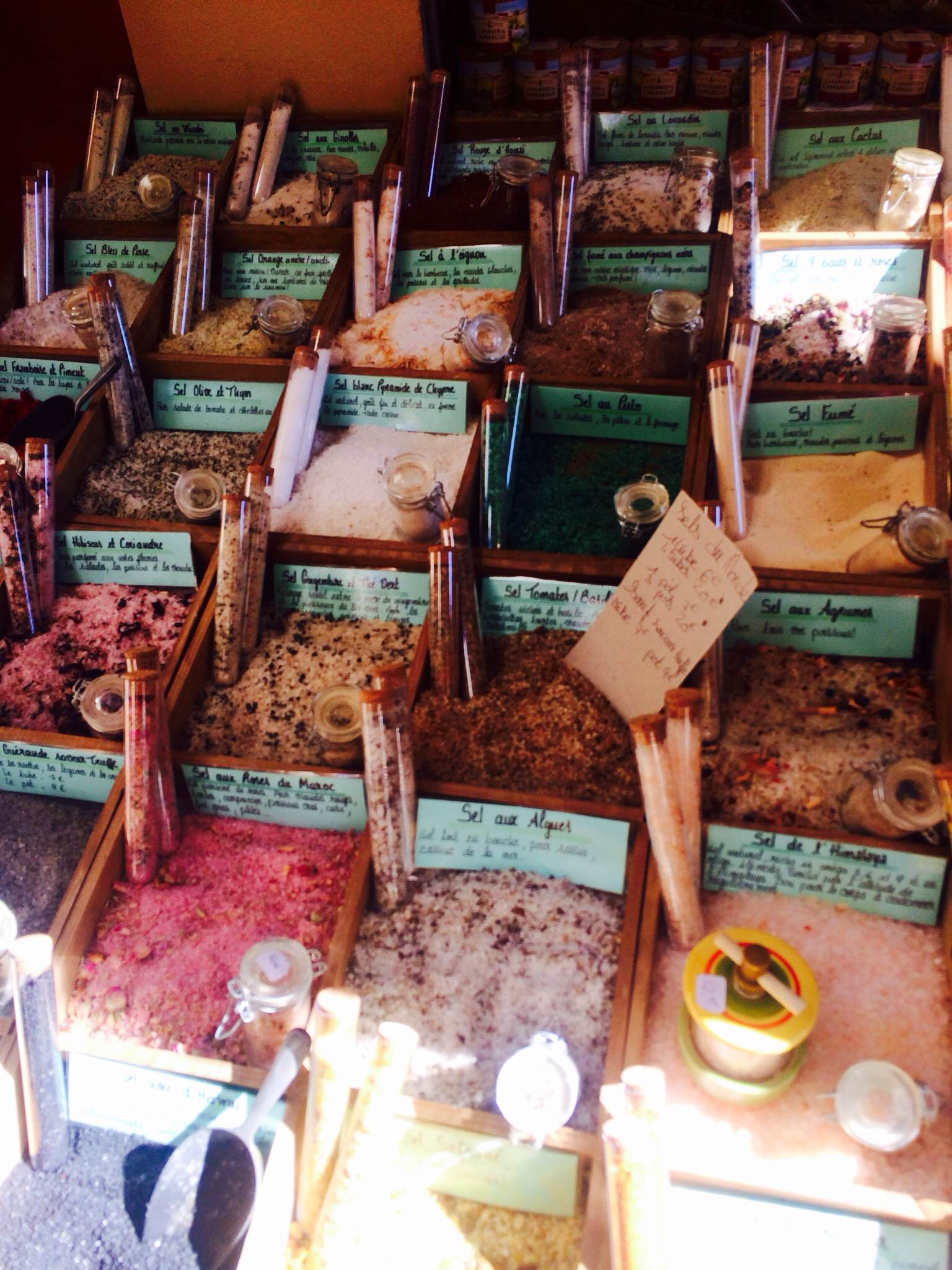 Salts at the Old Town in Nice
