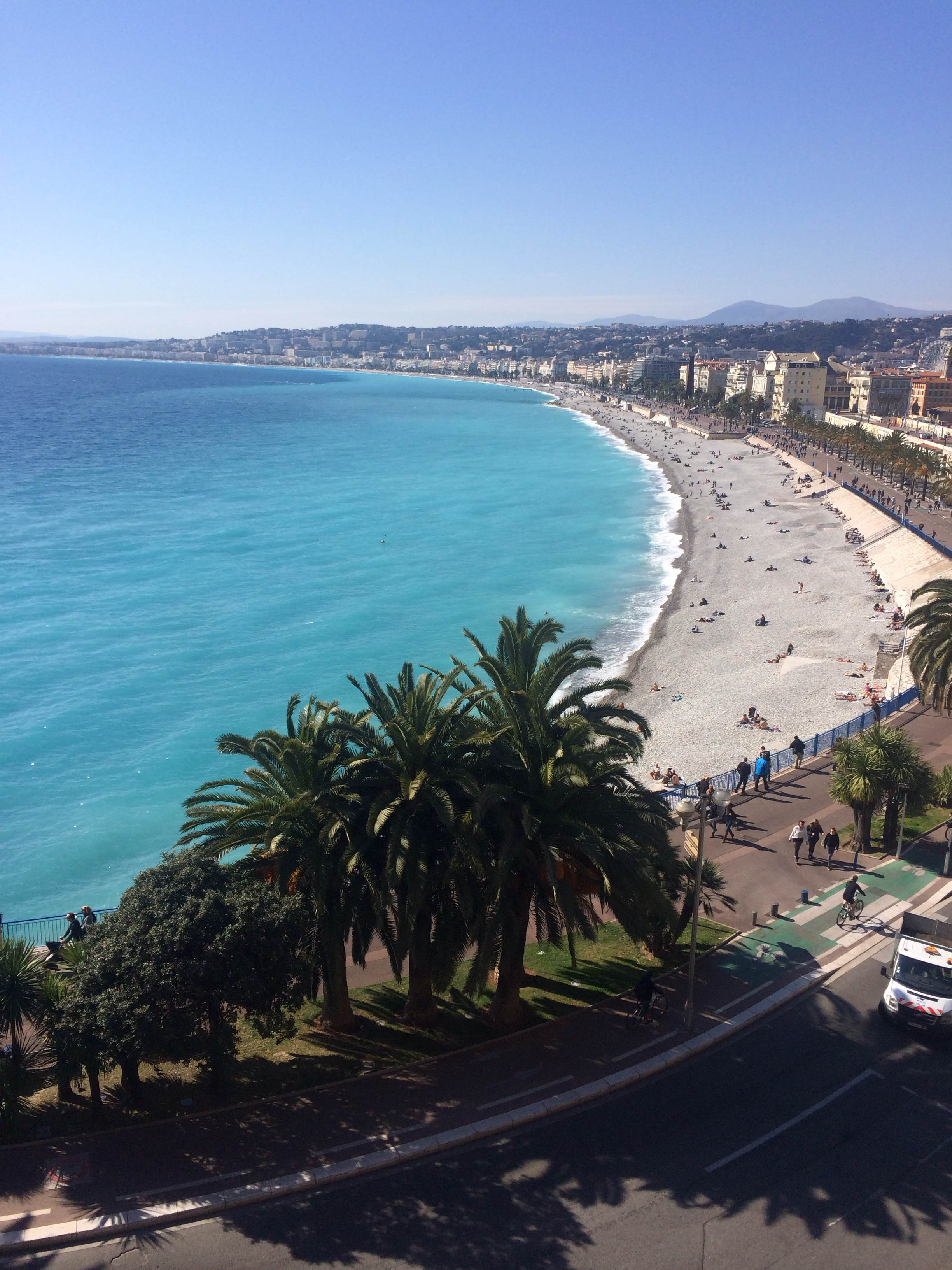 Beautiful views of Nice from Castle Hill