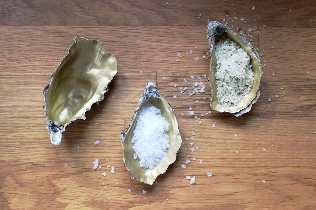 DIY Gold Oyster Shell Dish