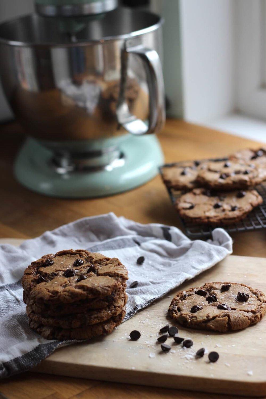 Nutella, Chocolate & Sea Salt Cookies