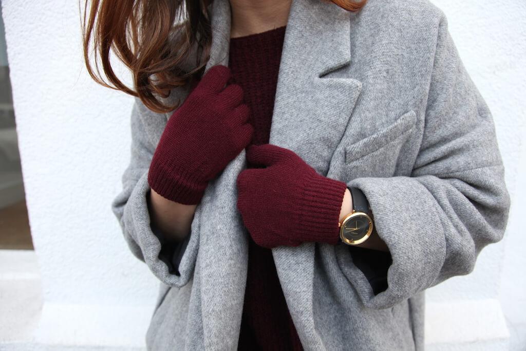 The Details: Burgundy + Grey