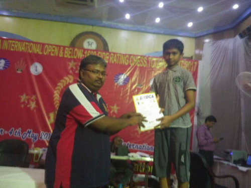 Vishwa Dheep Places 5th in the Under-1200 Category at the 7th BRDCA tournament