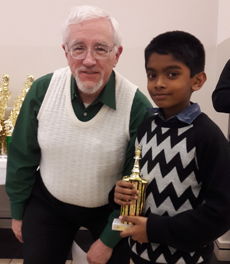 Udhayan Deveraj places 5th in the Scholastic Chess tournament heled in USA