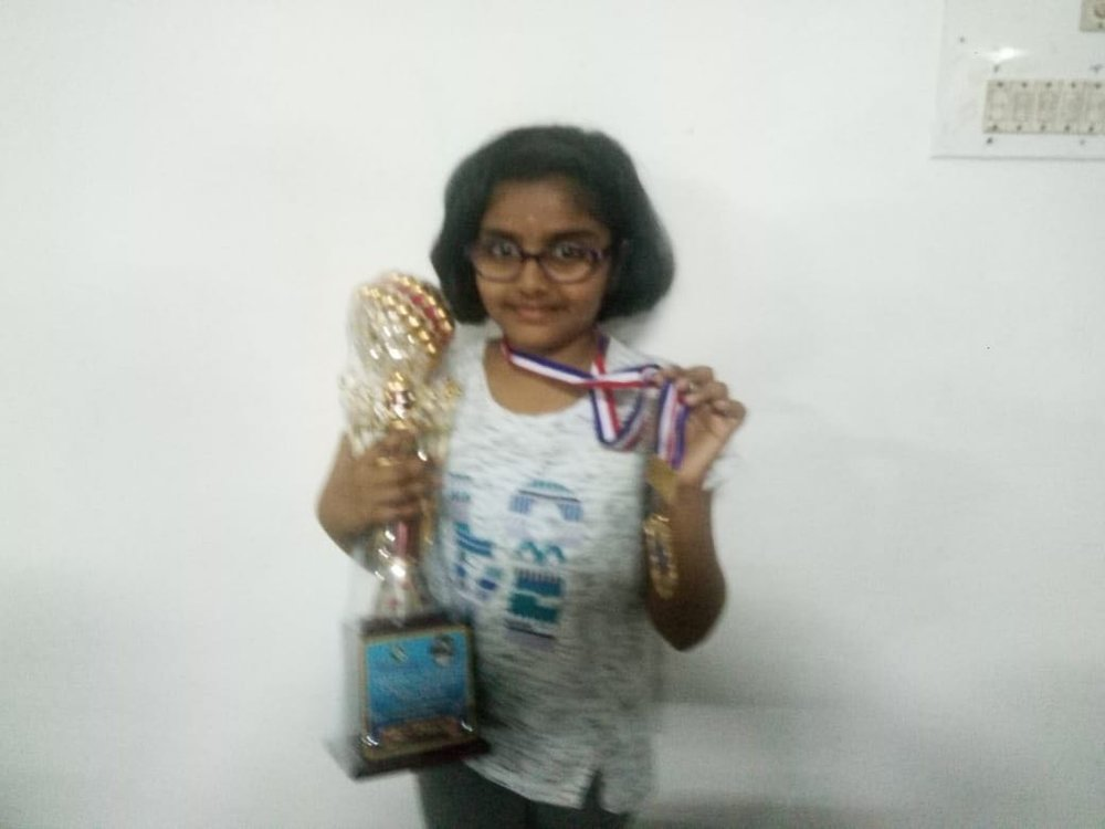 Congratulations to Jhanavi R for securing a gold medal & trophy in the Michail Tal Memorial Chess Tournament Under 13 Girls