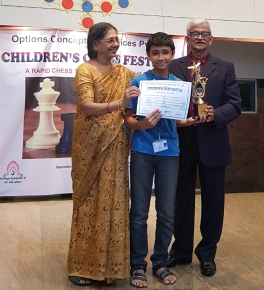 Congratulations to Srihari Padmanabhan  for securing 1st place in the U16 Category of the East Point Interschool Chess Competition 2018