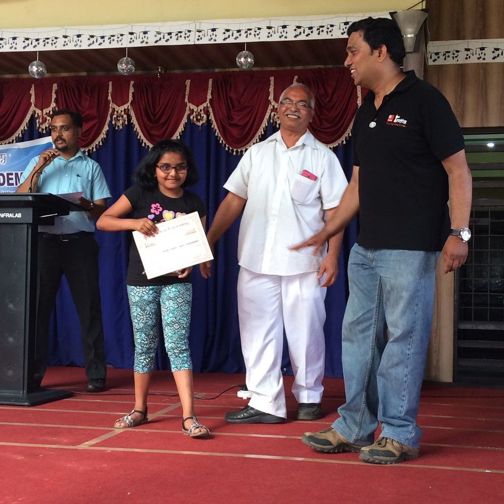Congratulations to Jhanavi for securing 3rd place in the 1st Inter-school Chess Tournament held on Aug 25th, 2018