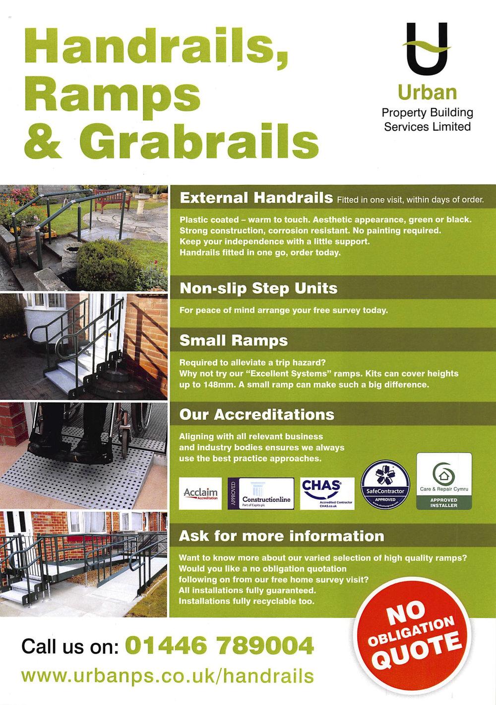 Handrails, Ramps & Grabrails leaflet