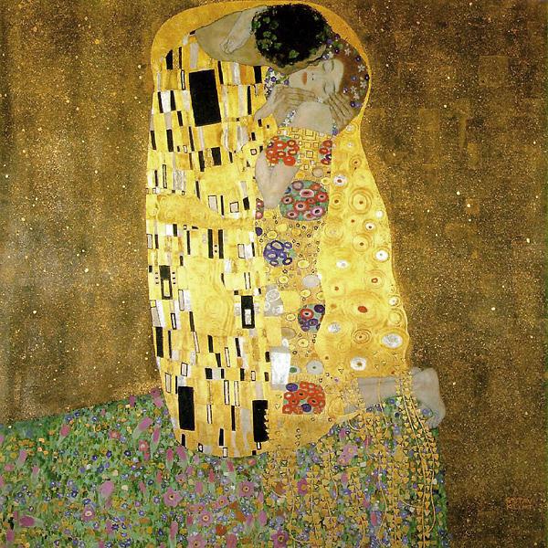 The Kiss, Gustav Klimt  http://www.klimt.com/en/gallery/women.html